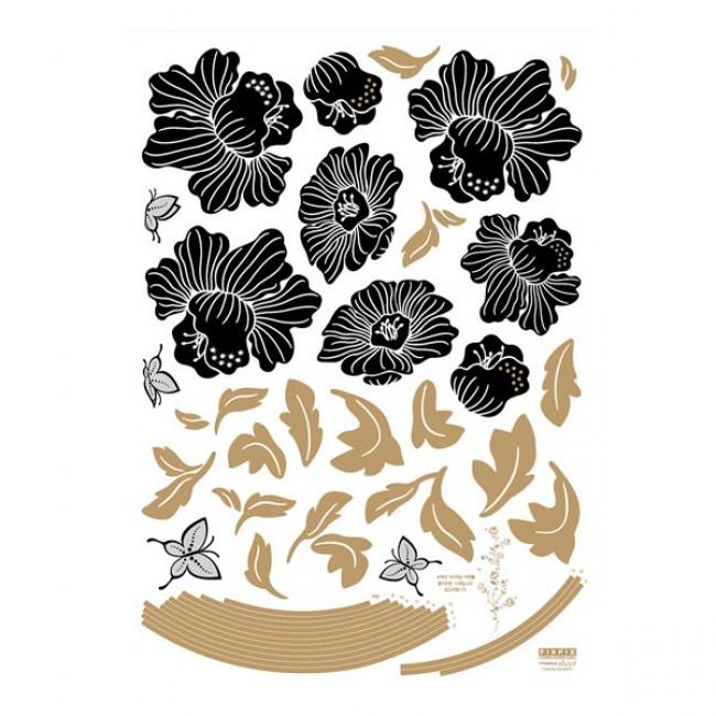 muurstickers slaapkamer Bloemen & Vlinders