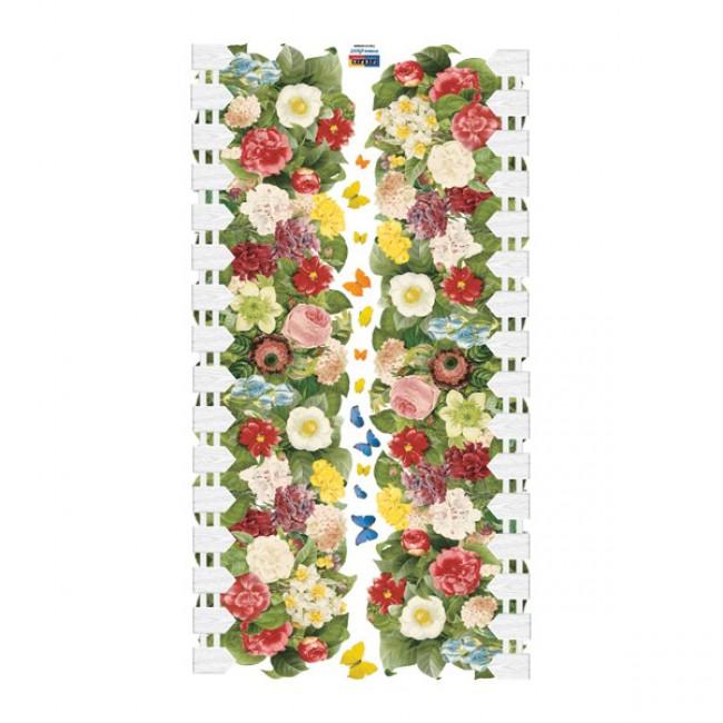 muurstickers slaapkamer bloementuin