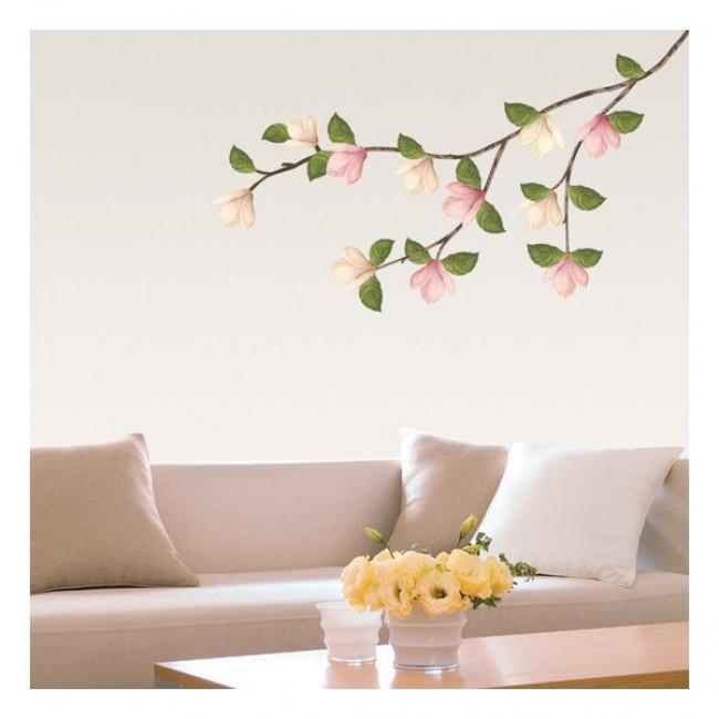 muurstickers bloemen magnolia bloemen