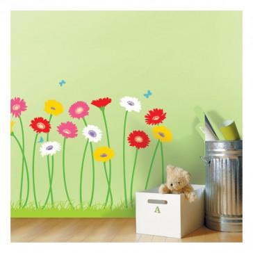 muurstickers bloemen gerbera bloem