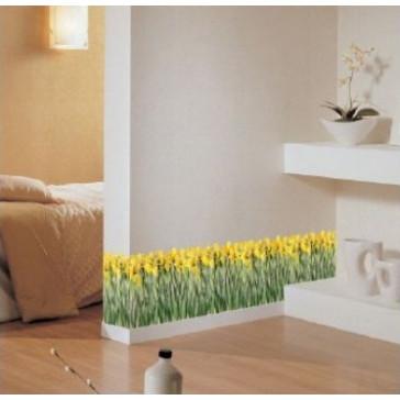 muurstickers slaapkamer iris bloemen