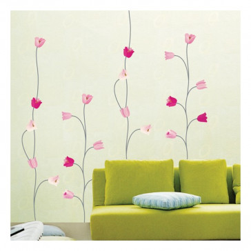 muurstickers bloemen moderne tulpen