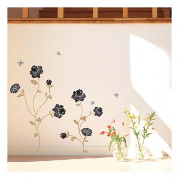 muurstickers bloemen Bloemen & Vlinders