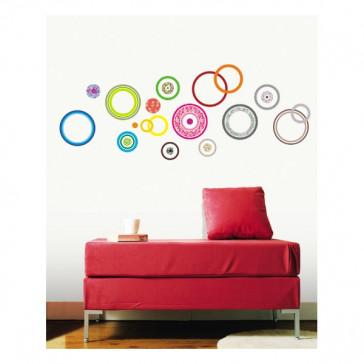 design muurstickers kleurencirkels