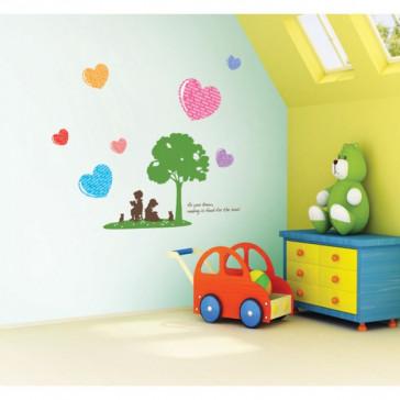 muurstickers babykamer onder de boom