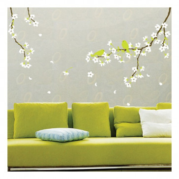 muurstickers slaapkamer kersenbloesem sakura