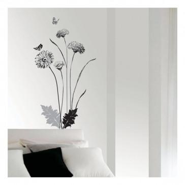 muurstickers slaapkamer moderne chrysant