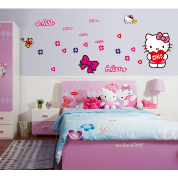 hello kitty muurstickers