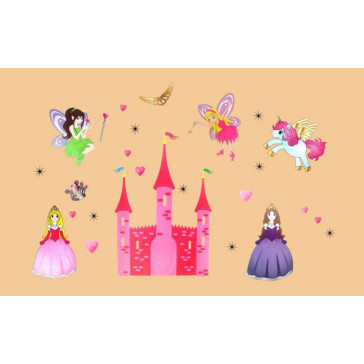 muurstickers kinderkamer elfjes & prinsessen