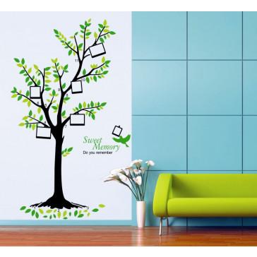 muursticker boom memory tree