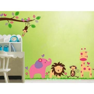 muurstickers babykamer dierentuin