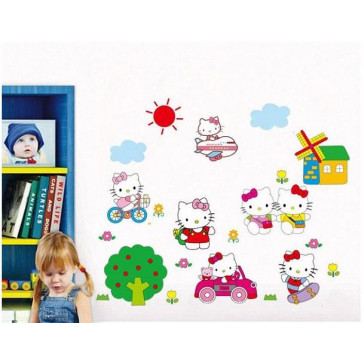 goedkope kinderkamer muurstickers hello kitty