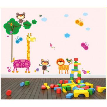 muurstickers babykamer dieren & vlinders