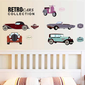 Muursticker Retro Auto Collectie