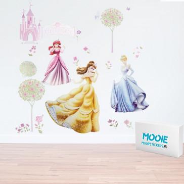 Muursticker Disney prinsessen
