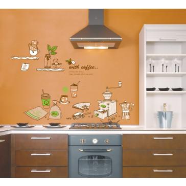 keuken en culinaire muurstickers koffie