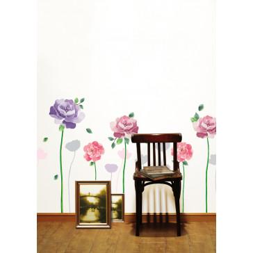 muurstickers bloemen geschilderde bloem