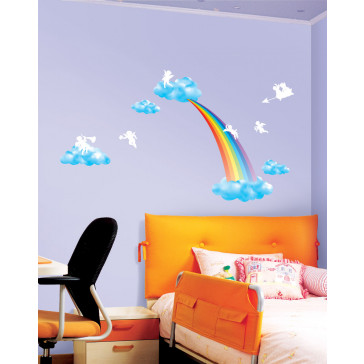 muurstickers babykamer regenboog