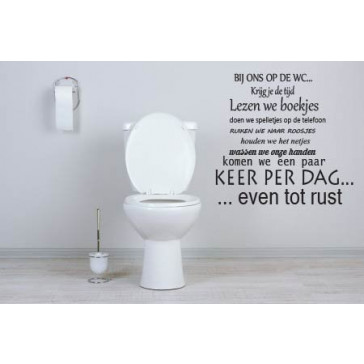 Muursticker Teksten voor op de WC