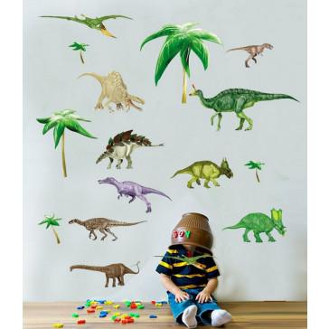 Muursticker stoere dinosaurussen