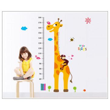 Muursticker Giraffe met Lengtemaat