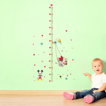 Muursticker Mickey en Minnie Mouse Lengtemeter