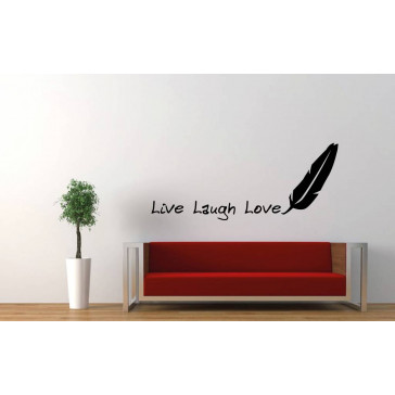 tekst muurstickers live laugh love