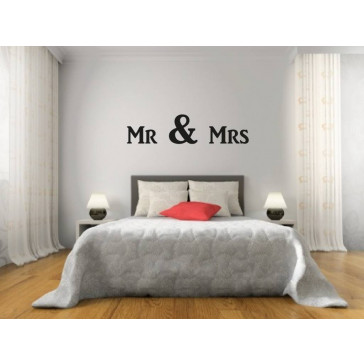 Muursticker teksten MR & MRS