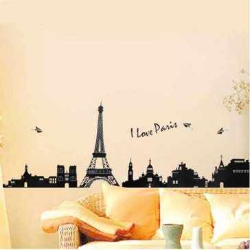 muurstickers I love parijs
