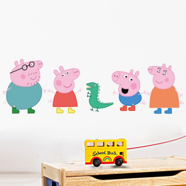 Muursticker Peppa Big en haar Familie