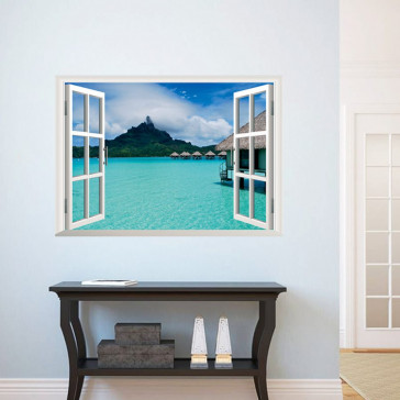 3D Raam Landschap Zee Vakantie Paradijs