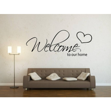tekst muurstickers welcome to our home