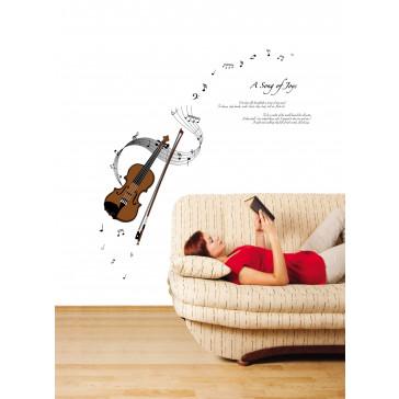 Muursticker Muziek Instrument