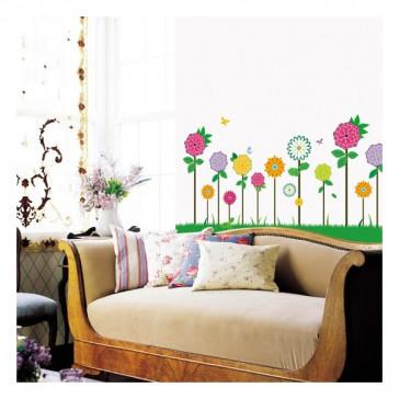 muurstickers bloemen bloemen veld