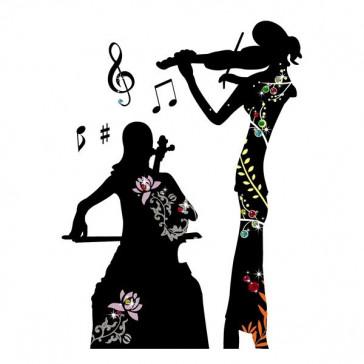 muurstickers muziek muziek & viool