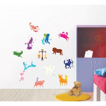 muurstickers slaapkamer sterrenbeelden