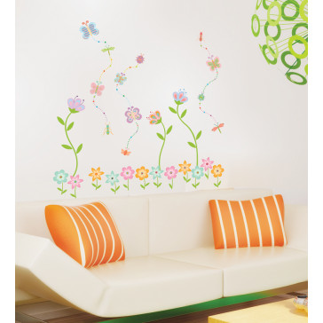 muurstickers bloemen decoratie bloem