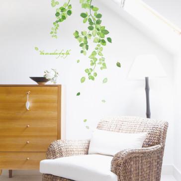 muurstickers slaapkamer zonneschijn wijnstok