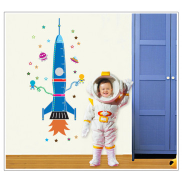 Muursticker Raket Lengtemeter