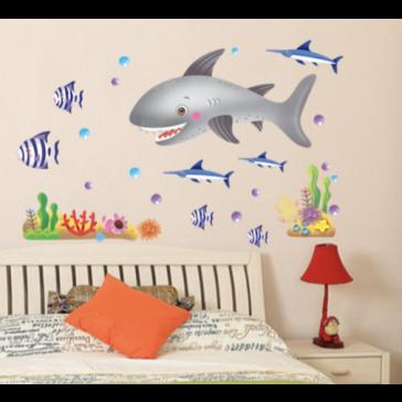 Muursticker Haaien