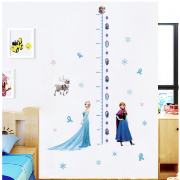 Muursticker Disney Frozen Lengtemeter