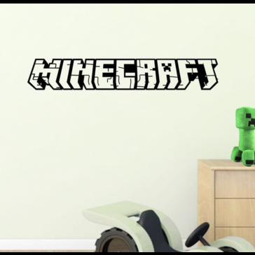 Muursticker Games Minecraft 3D Tekst