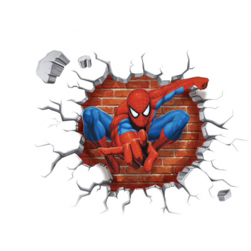 Muursticker Spiderman 3D