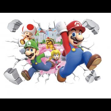 Muursticker 3D Super Mario
