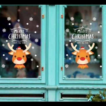 Raamsticker Kerst Rendieren