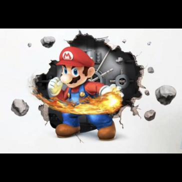 Mario - Super Mario - Vuurbal - Kluis - Muursticker