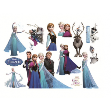 Mooie Muursticker Disney Frozen – Elsa Anna Olaf Sven – Kinderkamer sticker