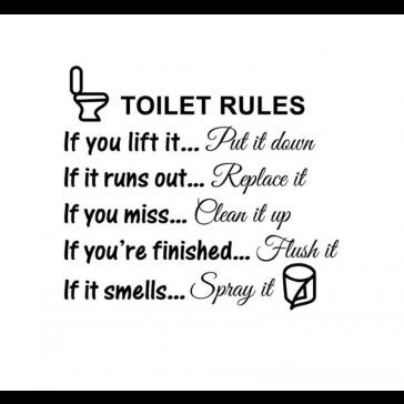Toilet sticker - Muurdecoratie - WC sticker - Engelse teksten toilet
