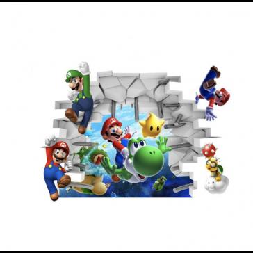 Muursticker Super Mario Met Yoshi
