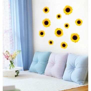 muurstickers bloemen zonnebloemen
